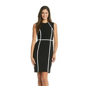 Calvin Klein Black & White Dress Sheath Length